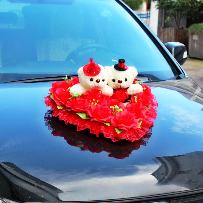Wedding Car Flower Decoration Mariage Decor LOVE Heart Artificial Flowers Cheap Supplies Products(China (Mainland))