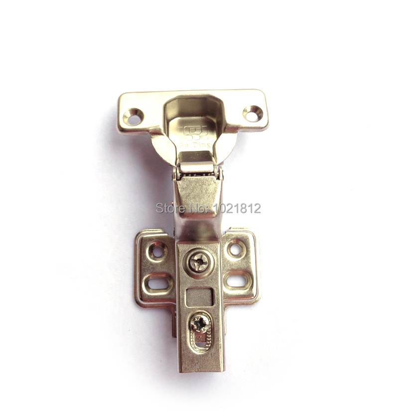 1 Pair Inset Hydraulic Cabinet Hinge Soft Close Brass