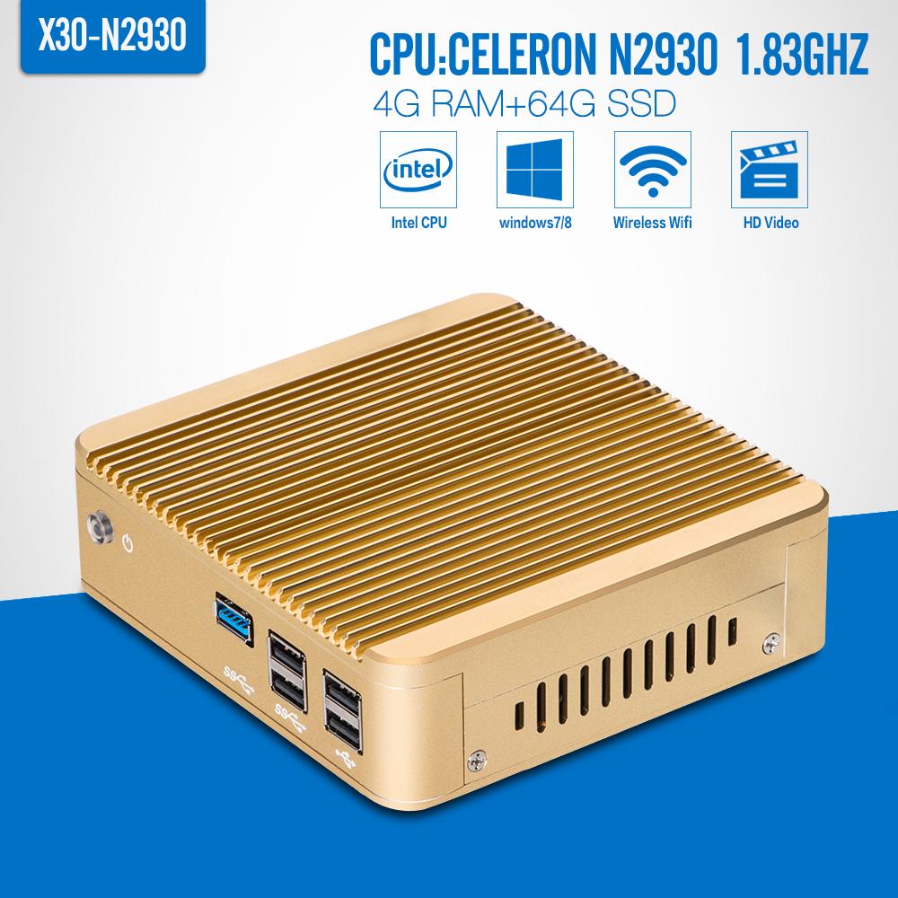 celeron N2930 N2940 J1900 Thin Client ,DDR3 4G RAM 64G SSD+wifi Mini PC Laptop Computer Desktop Case Mini PC Game Computer(China (Mainland))