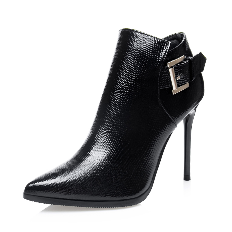 Sexy Winter Plush Women Boots High Heels Snakeskin Boots Pumps Wedding Shoes Woman Italian Women Pumps Heels 2015 Ladies Shoes(China (Mainland))
