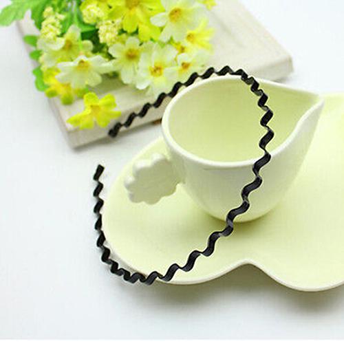 Bluelans Mens Womens Unisex Black Wavy Hair Head Hoop Band Sport Headband Hairband Fashion(China (Mainland))
