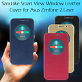 For Asus Zenfone 2 Laser ZE550KL ZE551KL 5.5 inch ROAR KOREA Diary Quick Circle View Window Leather Phone Bag Case Back Cover
