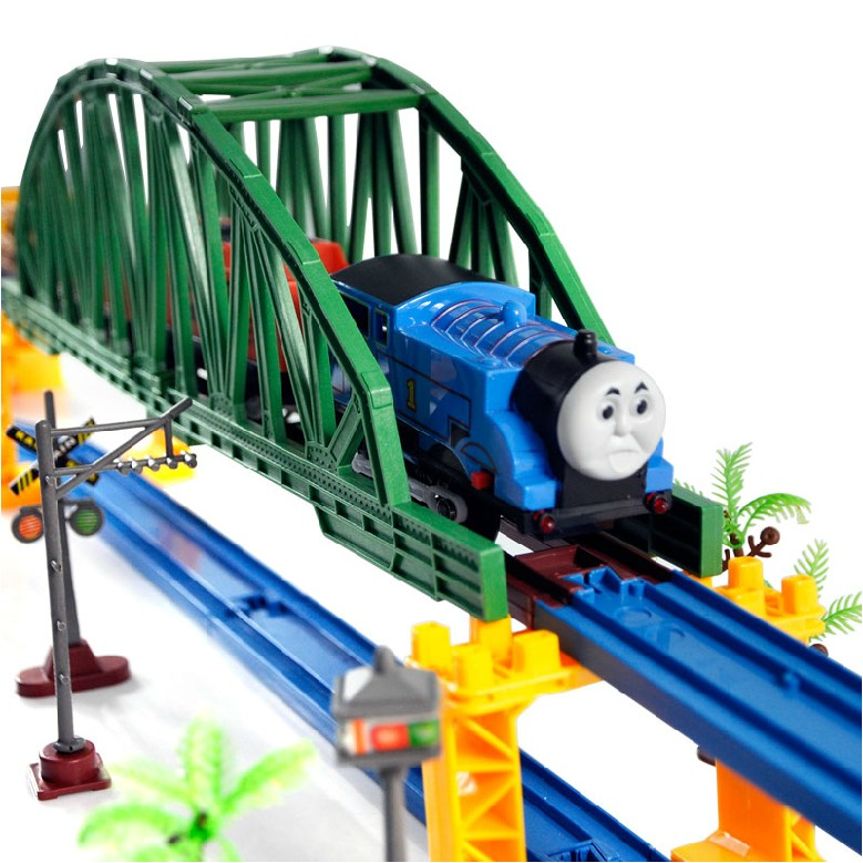 Large thomas train track electric toy plain double layer toy train track toy(China (Mainland))