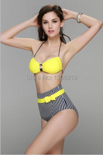 BRAND LE BESI LB1002 High waist swimsuit brazilian Bikini Europe women bikinis set(China (Mainland))