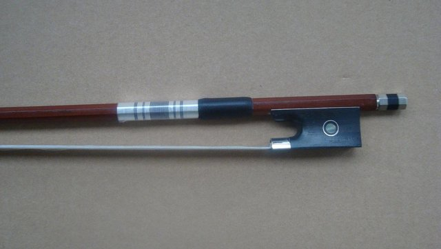 Cello bow brazilwood bow stick, Silver mounted cello bow of SFC880