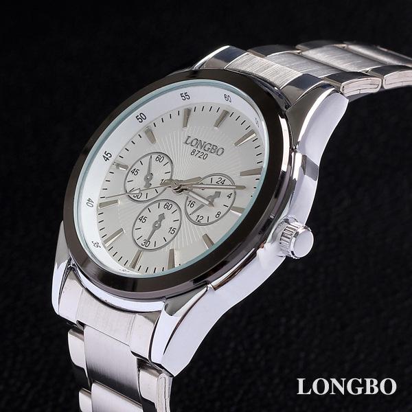 White Stainless Full Steel Watch Analog Quartz Male Clock Flight Hour Mens Wrist Casual Fashion Sport Cool Waterproof Watch