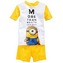 2016 Children Sets summer/spring Baby boys pajamas suits Girls Clothing Set sleepwear set cotton Popular cartoon shirts+trousers(China (Mainland))
