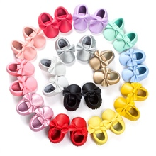 14 Colors Baby Girls Princess Fringe Soft Moccasin Kid Toddler Leather Crib Shoes(China (Mainland))