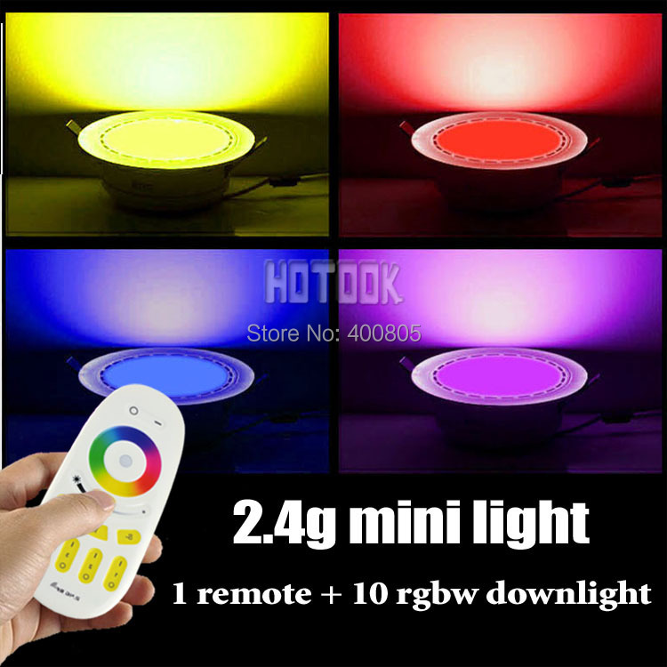 1RGB W 6W 12W LED ceiling panel lights led downlight + 2.4G wireless RF touch remote control indoor lighting - HOTOOK Official Store store