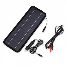 Hot Sale Portable 8.5W 18V Emergency Power Supply Solar Module Panel Car Battery Charger Outdoor Power Supply(China (Mainland))