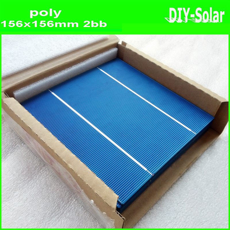 buy 50pcs/lot 4.3W 17.60% 156mm poly solar cells 6x6+enough tabbing wire and busbar wire+1pc flux pen for DIY solar panels(China (Mainland))