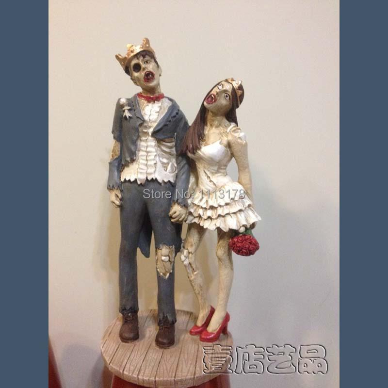 Halloween Cake Topper Wedding