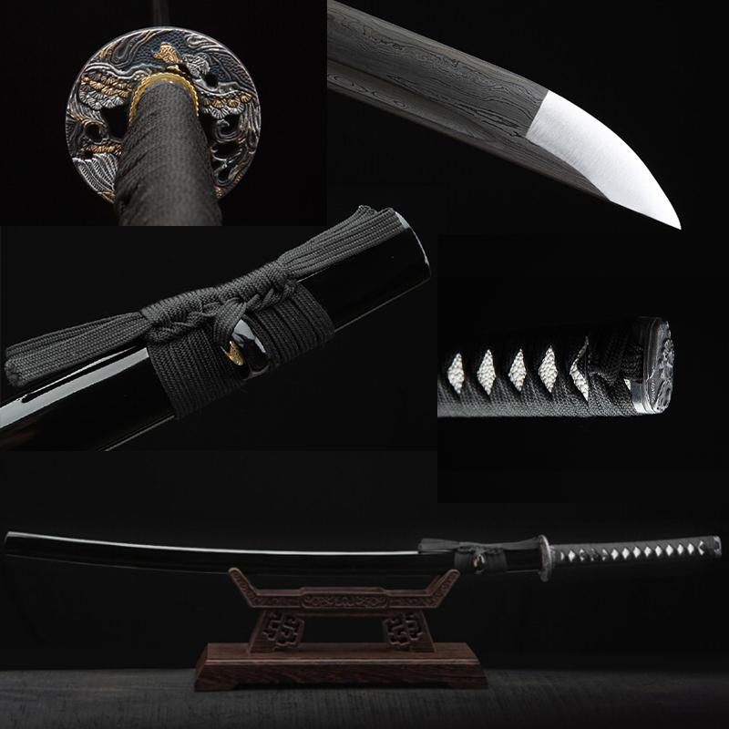 NEW handmade katanas sword katanas samurai japanese swords real katana swords for sale damasco FULL Tang(China (Mainland))