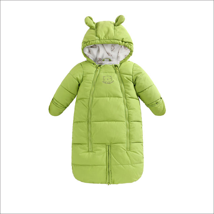 2015 Baby Blanket night thick Bedding Set Carters stroller sleeping bag Newborn swaddle Green Sleepers Hats