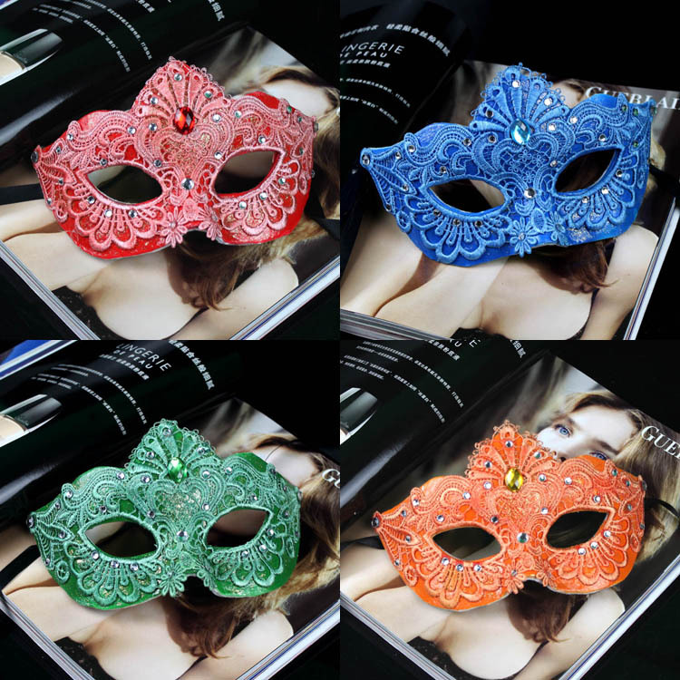Handmade refined quality luxury exquisite lace rhinestone masquerade masks / halloween party mask ladies women - Elegance is an Attitude store