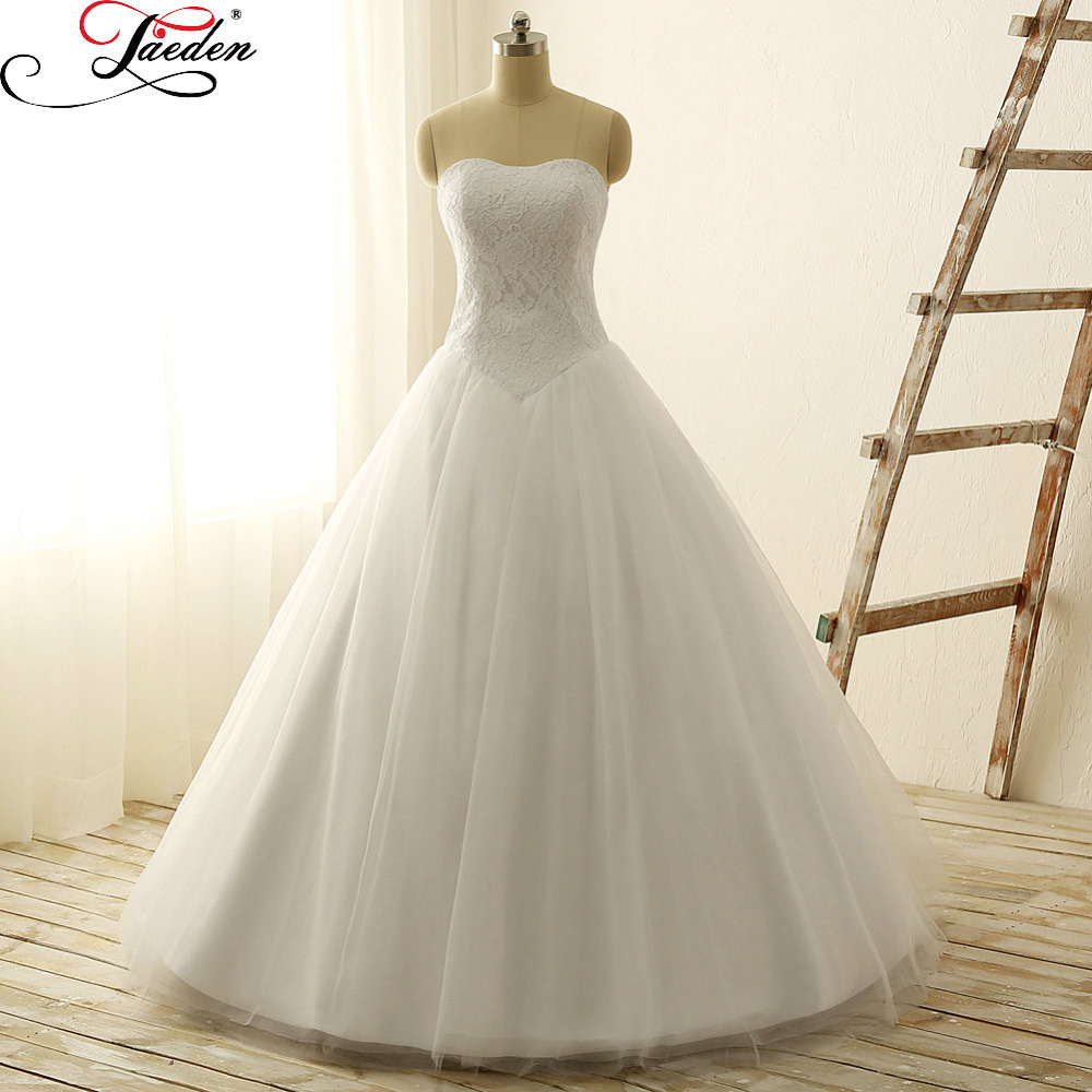 Buy jaeden appliques lace draped tulle for Buy back wedding dresses