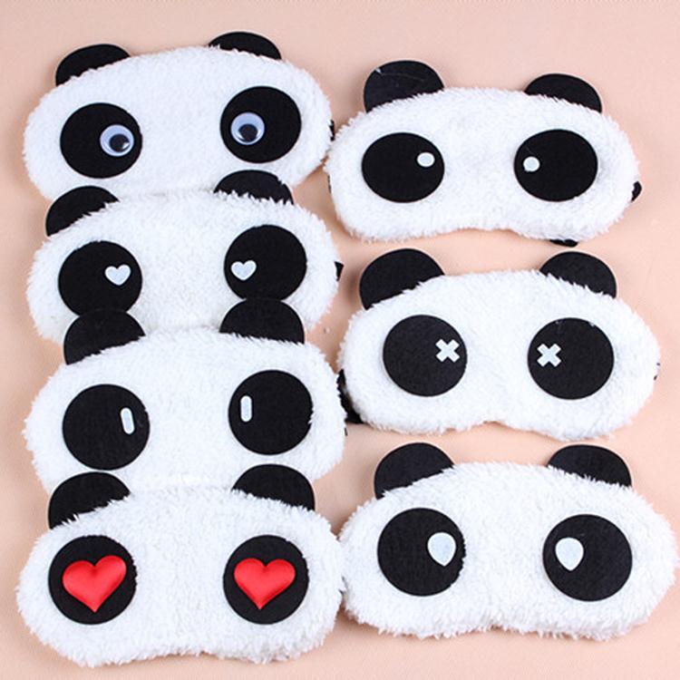 New Cute Cartoon Panda Winter warm Plush Warm Personality Protective Face Masks Universal Masks Goggles Random pattern