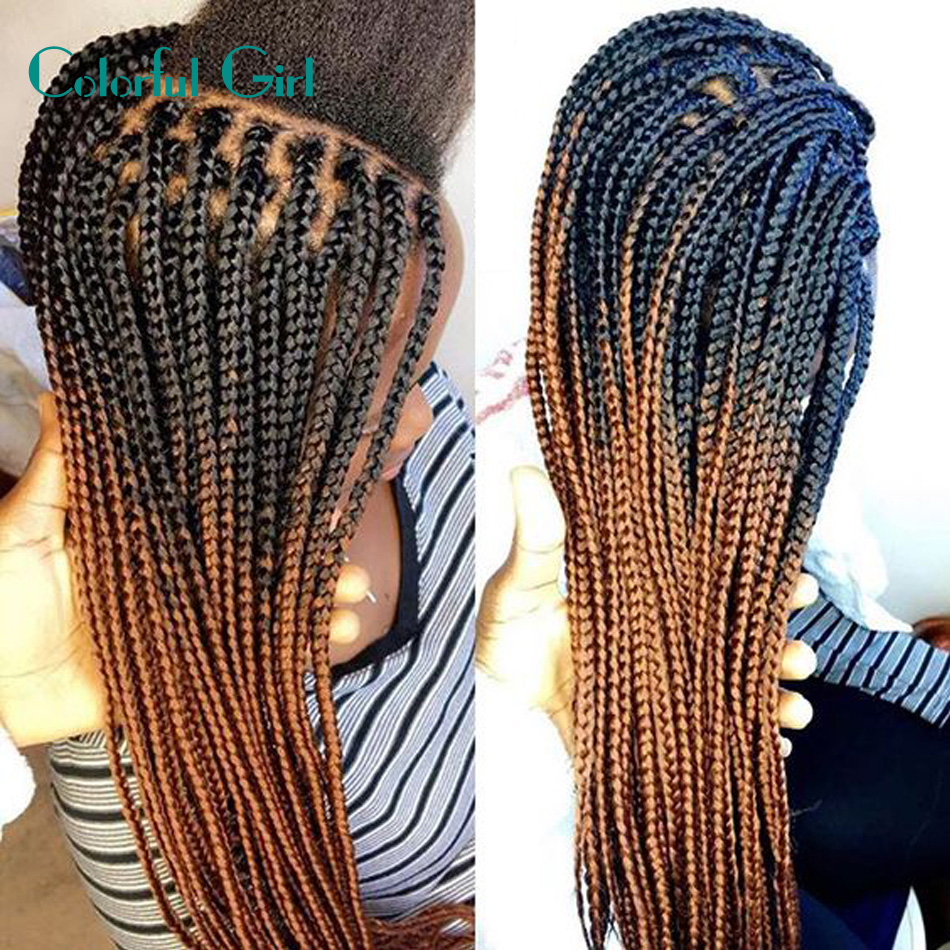 Crochet Synthetic Braiding Hair Ombre 24Inch Box Braids Crochet Braids ...