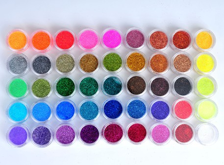 New Hot polish 45 Colors Shine Nail Glitter Powder Nail Art Fine Dust Set Free Shipping(China (Mainland))