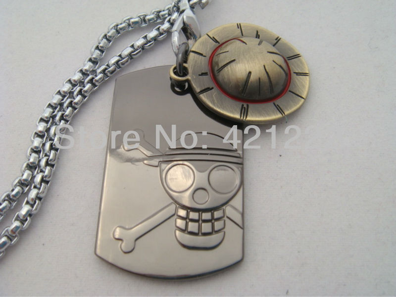FREE SHIPPING Wholesale NEW Japan Anime ONE PIECE Luffy Hat & Tag Pendant Cell Phone Strap Key chain collect gift(China (Mainland))