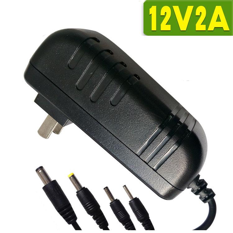 Quality New Special 100V 240V AC DC Power Supply EU Plug US 5.5mm x 2.1-2.5mm DC Power Adapter 12V / 2A For CCTV Camera(China (Mainland))