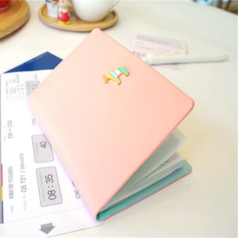 hobbyhorse short DS 4 candy colors passport holder simple style travel wallet cover for documets APH127(China (Mainland))