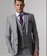 Custom made Mens Light Grey Suit
