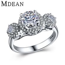 MDEAN 925 твердые ювелирных изделий стерлингового серебра обручальные кольца для женщин кубический кольцо модные аксессуары ювелирные изделия bague silverBijoux MSR431(China (Mainland))