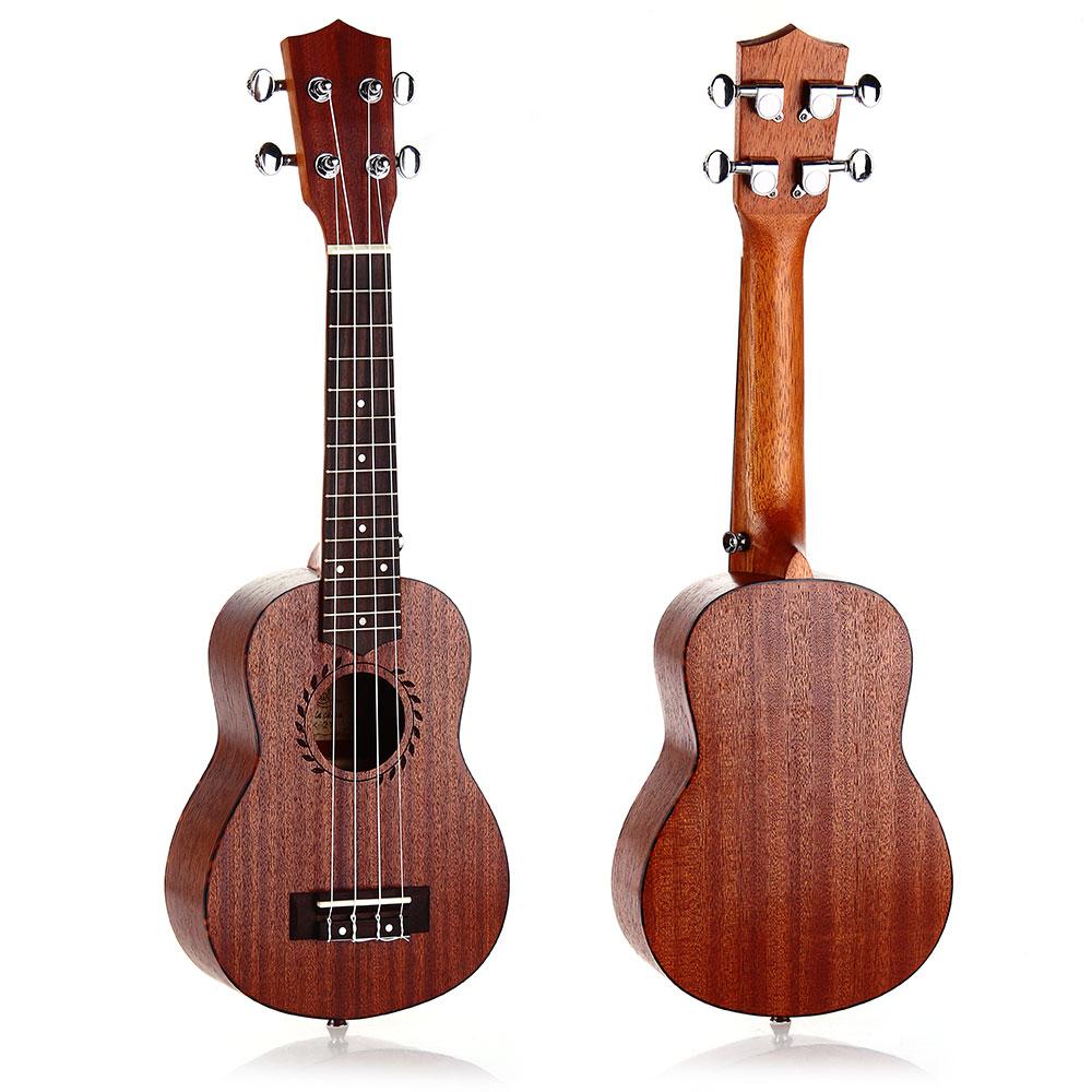21 inch Soprano Ukulele Uke Sapele 15 Frets Hawaii Musical Instrument