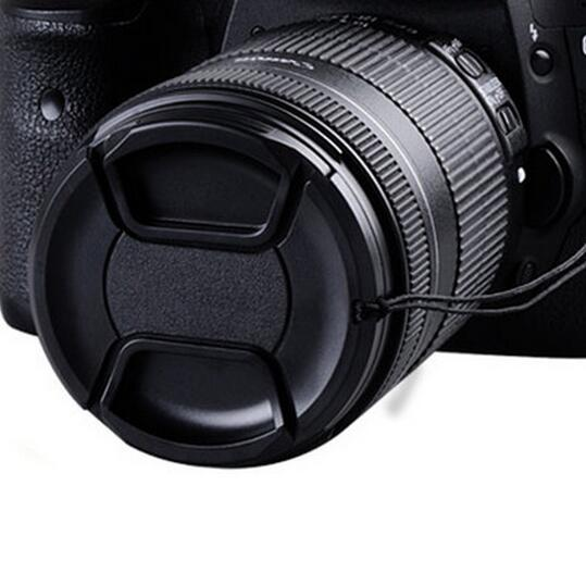 Enlavia-Black-NO Logo-49mm 52mm 55mm 58mm 62mm 67mm 72mm 77mm 82mm lens cap for CA NON/NI KON(China (Mainland))