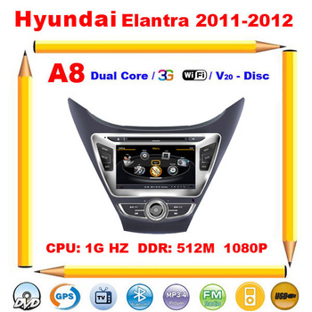 Promotion Hyundai ELANTRA 2011 2012 2013 Car DVD Head Unit with GPS Radio TV POP, Support 3G 1080P DVR V-20 Disc+Free shipping