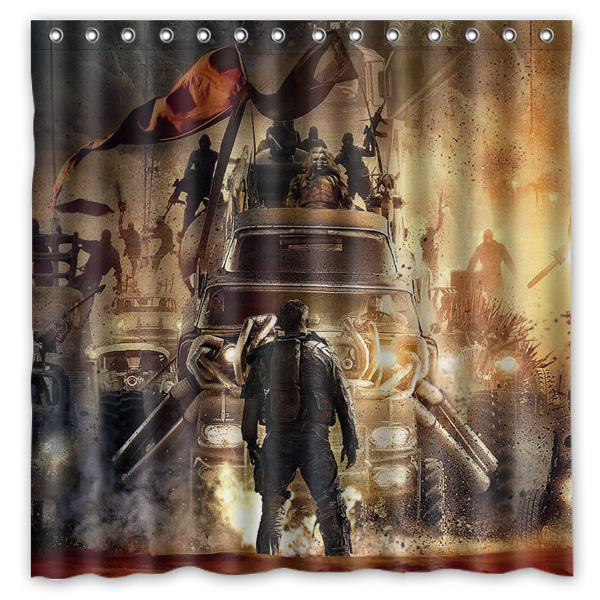 Bathroom Products Mad Max Fury Road Printed Polyester Fabric Shower Curtains Waterproof Washable Curtain 180X180CM(China (Mainland))