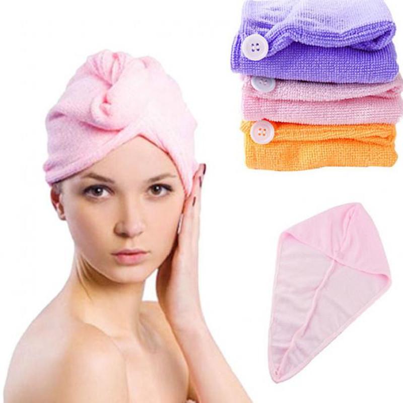 New 2015 Toallas Hot Sale--1pc 25x63cm Microfiber Magic Drying Turban Wrap Towels Hat Cap Hair Dry Quick Dryer Bath Salon Towel(China (Mainland))