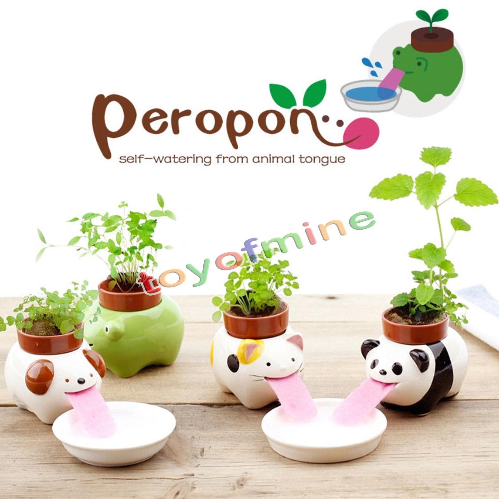 Cute Ceramic Cultivation Peropon Drinking Animal Planter