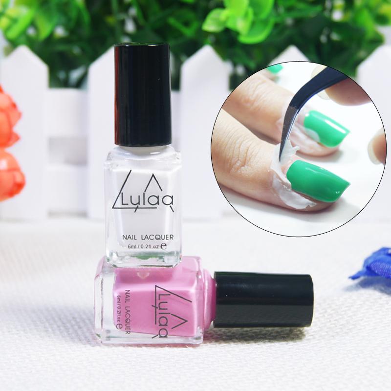 1PCS White Peel Off Liquid nail art Tape Latex Tape& finger skin protected liquid Palisade Easy clean Base Coat care nail polish