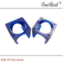 2Pcs/lot E3D V5 fan cover 3D printer DIY injection molding cooling POM plastic blue fan cover use for 3010 fan Free shipping