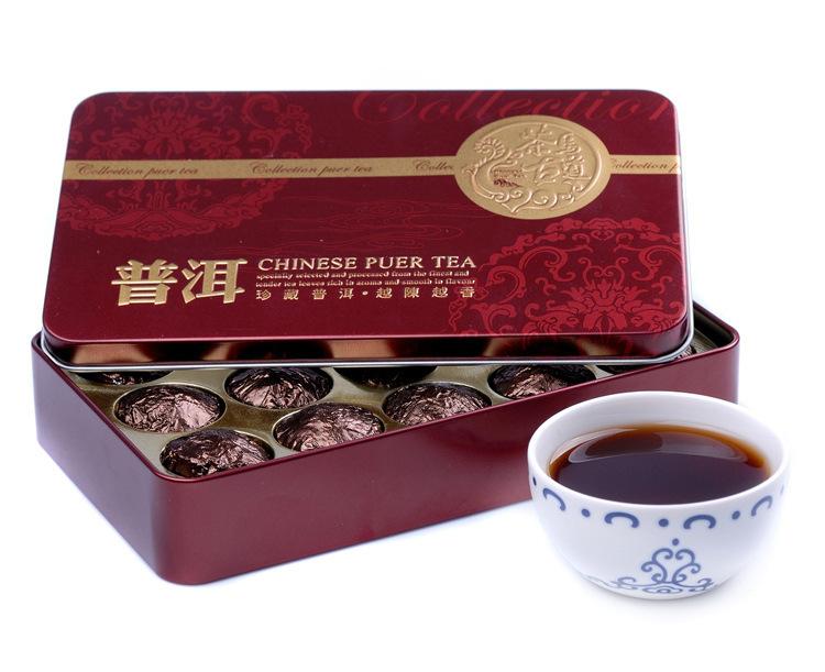 Free Shipping Black Tea Flavor Pu er Puerh Tea old tea tree Chinese Mini Yunnan Puer