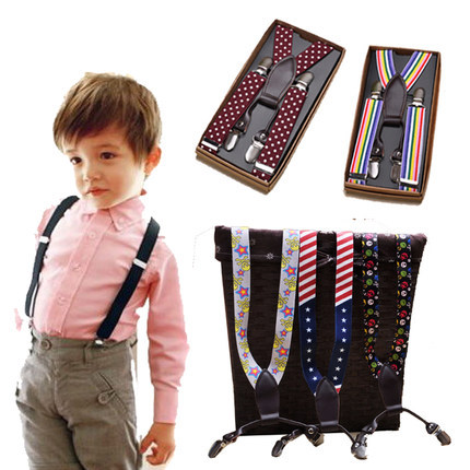 Free shipping,Fashion Children baby Suspenders,Telescopic straps,four clips,boys and girls suspenders,15 colors,fits ages 1-8Y