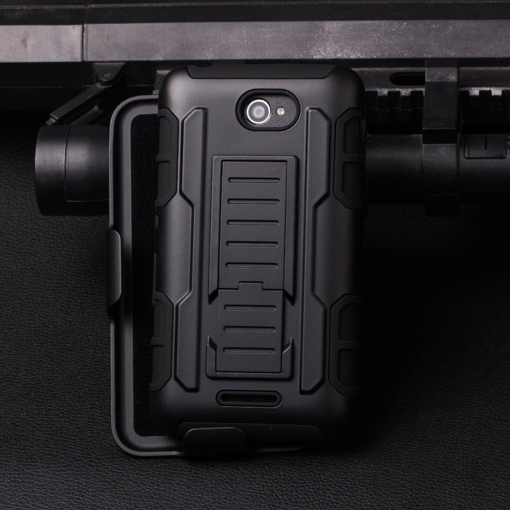 200pcs/lots Heavy Duty Future Armor Hybrid Stand Belt Clip Case For Sony Xperia C5 Ultra Holster Phone Protective Cover Cases
