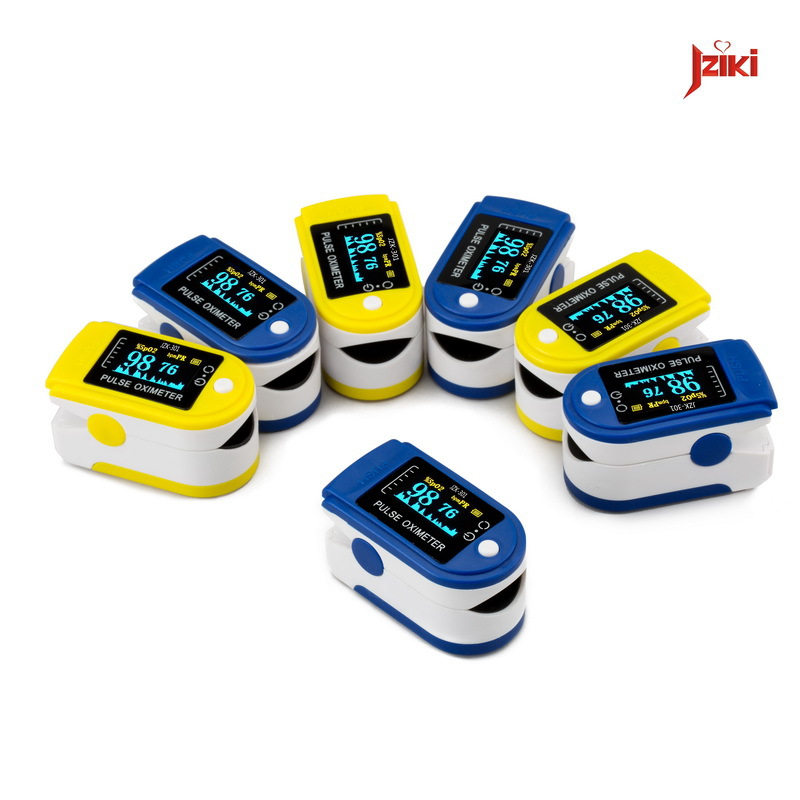 2015 Sales JZIKI Household Digital finger Oximeter SPO2 monitor Multicolor OLED display Pulse PR oximetro de dedo Free Shipping(China (Mainland))