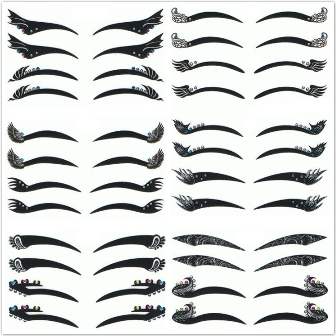 wholesale magic Smoky Eyes Sticker Eye liner Temporary Tattoo Lady Gaga Vintage Eye Shadow 900packs/lot free DHL/EMS shipping<br><br>Aliexpress