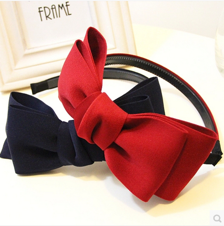 2016 Fashion Cute Sweet Style Cotton Bowknot Hair Band Hoop Bow Tie Headband Accessory - Sanbei Industry & Trade Co., Ltd store