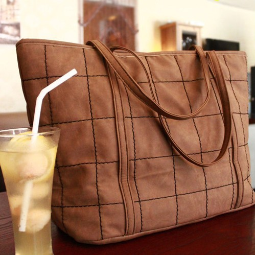 India leather bag female Korean 2014 new students retro ladies leisure frosted Lingge shoulder ladies bags(China (Mainland))
