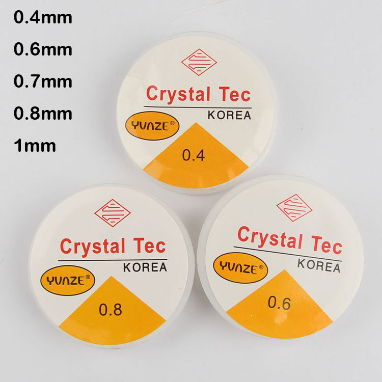 20 Meters 0.4 0.6 0.7 0.8 1mm Spool of Crystal Clear Stretch Elastic Beading Wire/Cord/String/Thread(China (Mainland))