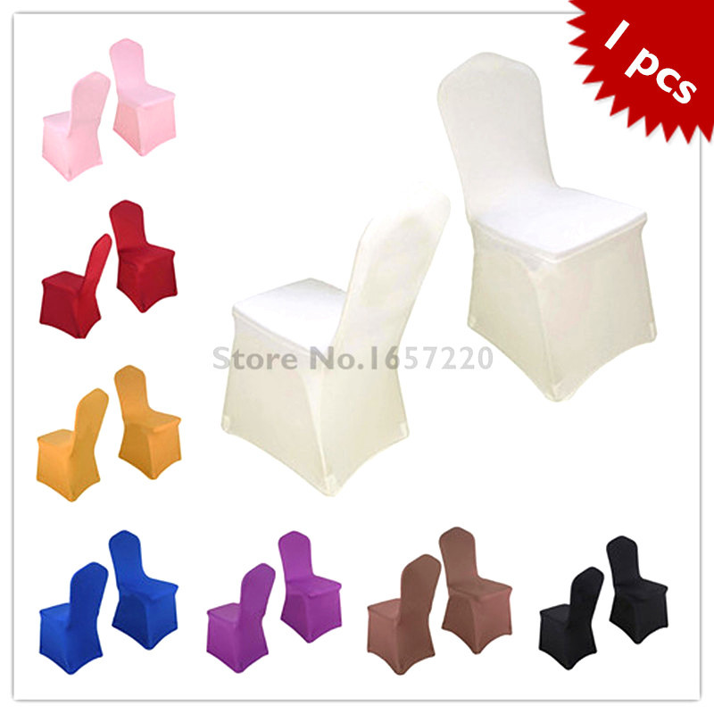 1 pieces Universal spandex chair covers China for Weddings Decoration Party Chair Covers Banquet Dining Chair covers White(China (Mainland))