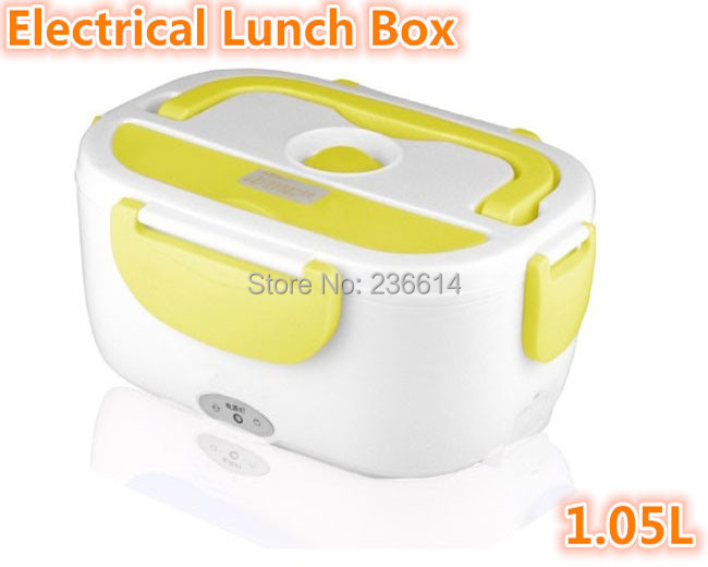 Free shipping Heating Food Storage Organizer cabinet Multi-function Electric Portable Lunch Box with EU/US Plug(China (Mainland))