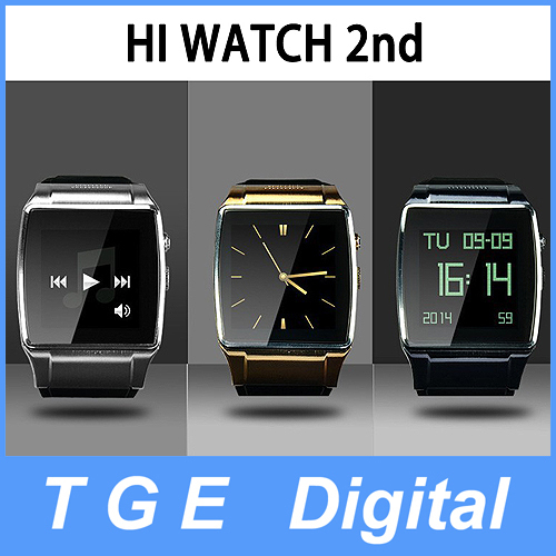 Luxury Smart Wrist Phone Watch 1.55'' Hi Watch 2 with 2MP Camera Bluetooth Dialer/Mp3/Mp4/FM/Video/Remote Photo for Smartphone(China (Mainland))
