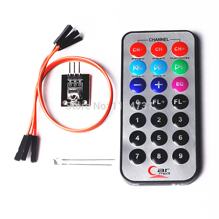 Hot Selling New Infrared IR Wireless Remote Control Module Kits For Arduino Wholesale(China (Mainland))