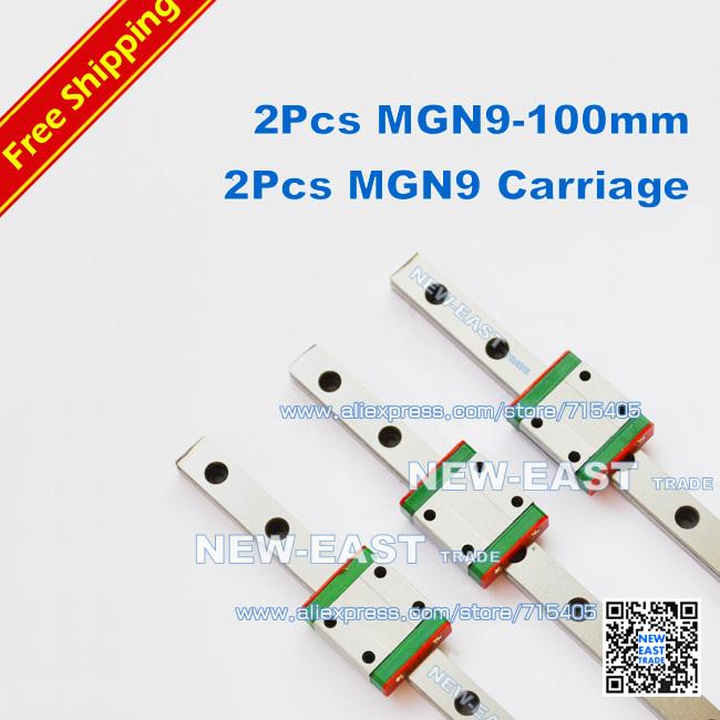 Линейные направляющие OEM MGN9 l = 100 MGN9c MR9 100 MR9 MGN9-100mm линейные направляющие tbi tr30 l 1000