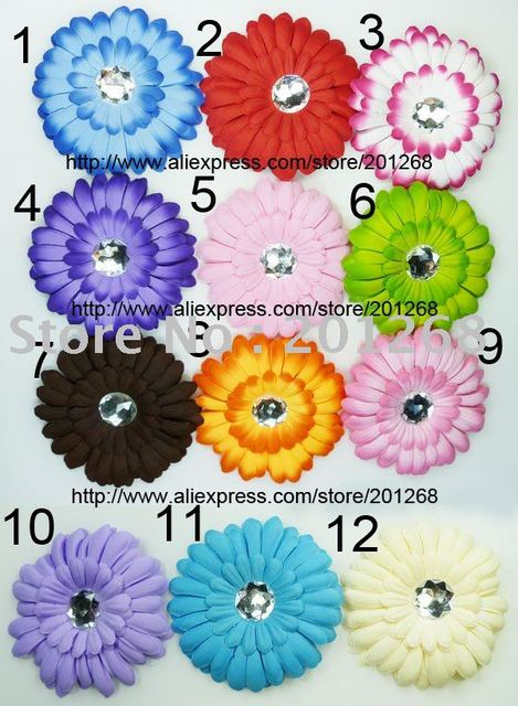 "Wholesale 4"" gerbera daisy flower clip hair clips for baby toddler girl free shipping"